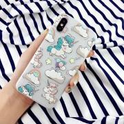 Coque Licornes Nuages Arc-en-ciel Ballons iPhone 7 Plus / 8 Plus 5.5 silicone souple