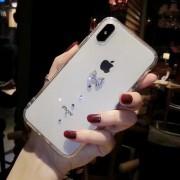 Coque transparente silicone souple mou avec noeud et strass iPhoneX / XS / 10