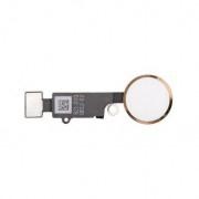 Bouton home complet blanc et or avec nappe  iPhone 7 / 7 Plus / 8 / 8 Plus