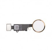 Bouton home complet blanc et or avec nappe iPhone 7 / 7 Plus