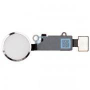 Bouton home complet blanc et argent avec nappe  iPhone 7 / 7 Plus / 8 / 8 Plus