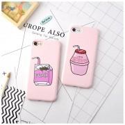 Coque silicone Peach rose boisson iPhone 7 Plus / 8 Plus
