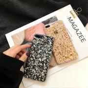 Coque silicone transparente style paillettes Or et Argent incrusté iPhone 6 / 6S