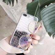 Coque style peau de crocodile argenté iPhone 6 Plus / 6S Plus