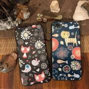 Coque silicone festif chats oiseaux poissons iPhone 6 Plus / 6S Plus
