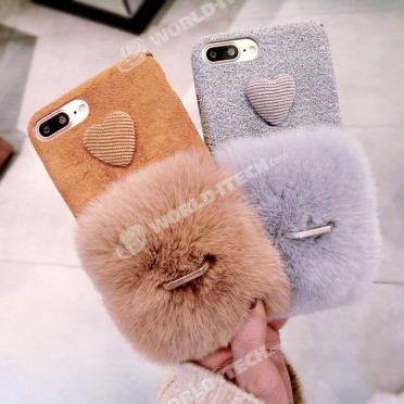 coque iphone 8 plus en fourrure