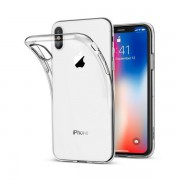 Coque transparente silicone invisible iPhone X / XS