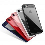 Coque silicone AUTO FOCUS arrière transparent iPhone 7 / 8 SE 2020