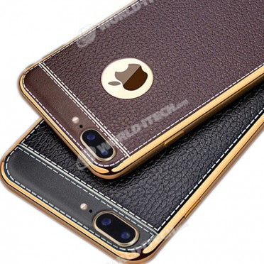 coque silicone souple style cuir iphone 6 plus 6s plus