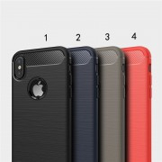 Coque Silicone Antichoc style Carbon iPhone 5 5S SE