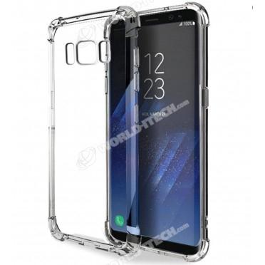 Coque transparente silicone bords renforcés Samsung Galaxy S8