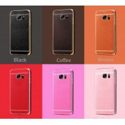 Coque Silicone Style Cuir Samsung Galaxy A3 2017