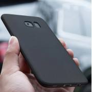 Coque protection fine en silicone souple noir Samsung S8