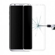 Film verre trempé intégral bords blanc Samsung S9