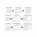 Adaptateurs Carte SIM Standard / Micro SIM / Nano SIM 1