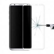 Film verre trempé intégral bords blanc Samsung S9 Plus