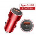 Chargeur rapide pour voiture 12V vers USB Type-C 1