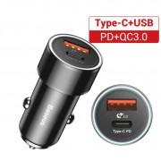 Chargeur rapide pour voiture 12V vers USB Type-C