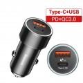 Chargeur rapide pour voiture 12V vers USB Type-C 0