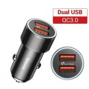 Chargeur rapide pour voiture 12V vers double USB rouge noir