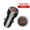 Chargeur rapide pour voiture 12V vers double USB rouge noir 0
