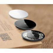 Chargeur Qi induction sans fil 10W Baseus transparent noir blanc qualité