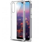 Coque transparente silicone bords renforcés Huawei P20