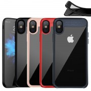 Coque silicone AUTO FOCUS arrière transparent iPhone X / XS