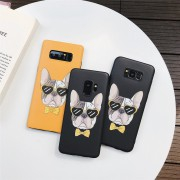 Coque Silicone tête Chien Bulldog Samsung Galaxy Note 9