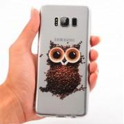Coque silicone hibou en grains de café Samsung S6