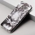 Coque silicone tête de tigre en noir et blanc Samsung S6 EDGE 0