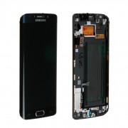 Ecran LCD ORIGINE avec chassis Samsung Noir S6 EDGE - Kit Outils OFFERT