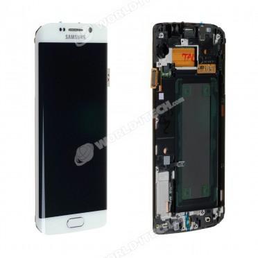 Ecran LCD ORIGINE avec chassis Samsung Blanc S6 EDGE - Kit Outils OFFERT
