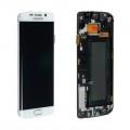 Ecran LCD ORIGINE avec chassis Samsung Blanc S6 EDGE - Kit Outils OFFERT 0