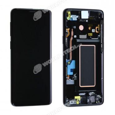 Ecran ORIGINE Samsung Noir avec chassis S9 SM-G960F - Kit Outils OFFERT GH97-21696A / GH97-21697A