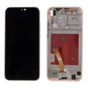 Ecran LCD ORIGINE Huawei rose avec chassis P20 Lite - Kit Outils OFFERT