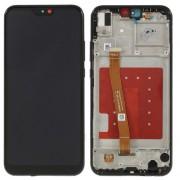 Ecran LCD ORIGINE Huawei Noir avec chassis P20 Lite - Kit Outils OFFERT