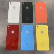 Vitre face arrière avec adhésif iPhone XR qualité origine Noir / Blanc / Bleu / Jaune / Corail / Rouge red