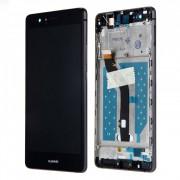 Ecran LCD ORIGINE Huawei Noir avec chassis P9 Lite - Kit Outils OFFERT VNS-L31