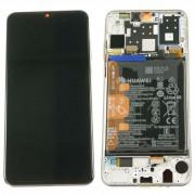 Ecran OFFICIEL Huawei Noir avec chassis P30 Lite - Kit Outils OFFERT 02352RQC MAR-LX3A origine service pack