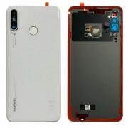 Vitre arrière blanc Pearl OFFICIELLE Huawei P30 Lite MAR-LX3A 02352RQB