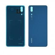Vitre arrière Bleu COMPATIBLE Huawei P20 - Outils OFFERTS