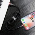 Cable USB Lightning Ultra-Renforcé en nylon tressé iPhone iPad Baseus 0