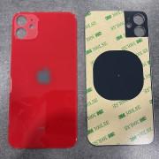 Vitre face arrière rouge avec adhésif iPhone 11 qualité origine