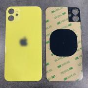 Vitre face arrière jaune avec adhésif iPhone 11 qualité origine