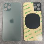 Vitre face arrière Vert Nuit avec adhésif iPhone 11 Pro qualité origine