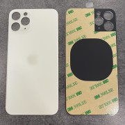 Vitre face arrière Argent Blanc avec adhésif iPhone 11 Pro max qualité origine
