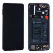 Ecran OFFICIEL Huawei noir avec chassis P20 Lite - Kit Outils OFFERT 02351XTY