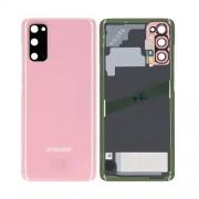 Vitre arrière rose OFFICIELLE Samsung Galaxy S20 SM-G980F GH82-22068C