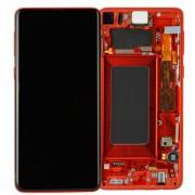 Ecran sur chassis rouge OFFICIEL Samsung S10 SM-G973F - Kit Outils origine service pack GH82-18850H